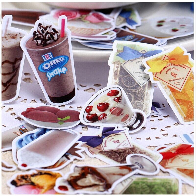 30pcs creative cute self-made kawaii sweet drinks/food scrapbooking stickers /decorative sticker /DIY craft photo albums