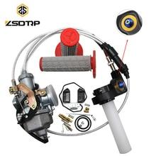 ZSDTRP Tuning Tuned Power Jet PZ30 Keihin Carburetor+Visiable Twister+Cable+Grips+Repair Kit for Honda KTM Yamaha TTR250