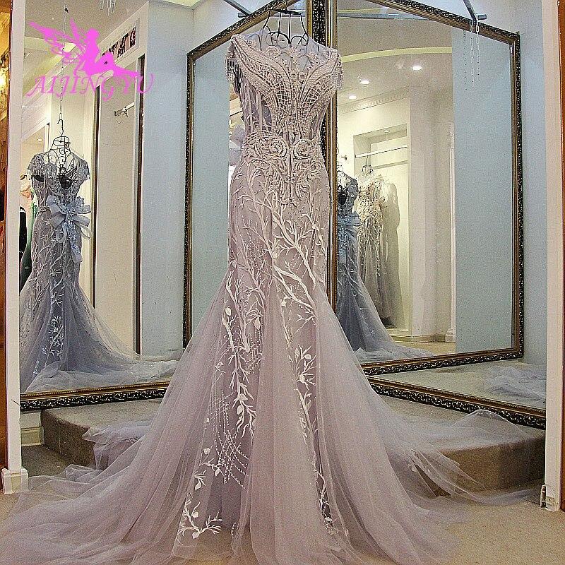 AIJINGYU, vestido de novia de invierno, vestido de novia Princesa, Top corto 2019, vestido victoriano elegante, vestidos para boda