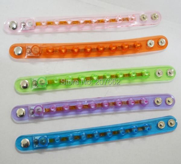 Free shipping 12pcs/lot glow bangle Light-Up Spike Bracelets Wristbands LED Flashing Glow Blinking Spikey Rave