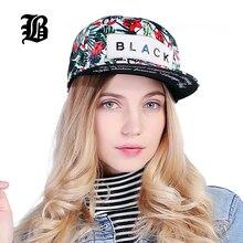 [FLB] Blume Label Snapback Kappe Hip Hop Kappe Floral Casquette Snap Zurück Mode Baseball Kappe Gorras Männer Ausgestattet snapback Hut