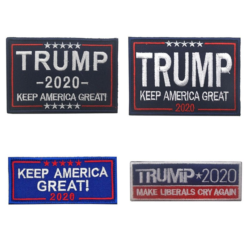 Mantener América gran Trump 2020 bordado parche bordado parches militar táctico parche de tela para manga coser apliques
