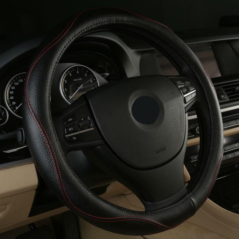 Venta caliente cuero Auto protector para volante de coche 38CM para BMW serie 4 F32 F33 F36 418d 420d 425d 428d 430d 435d 440d