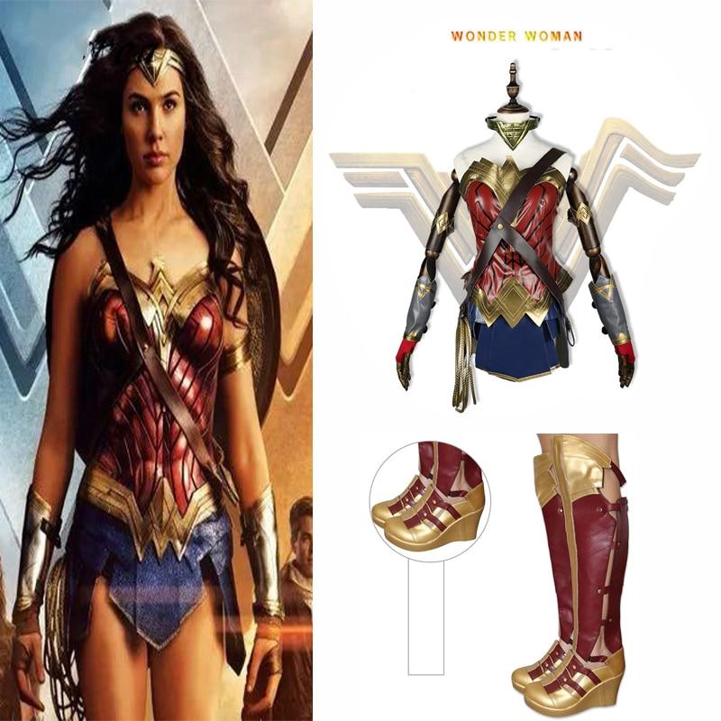 Wonder Woman Cosplay Costume High Quality Batman v Superman Dawn of Justice Diana Princess Cosplay Dress for Halloween Fantasy