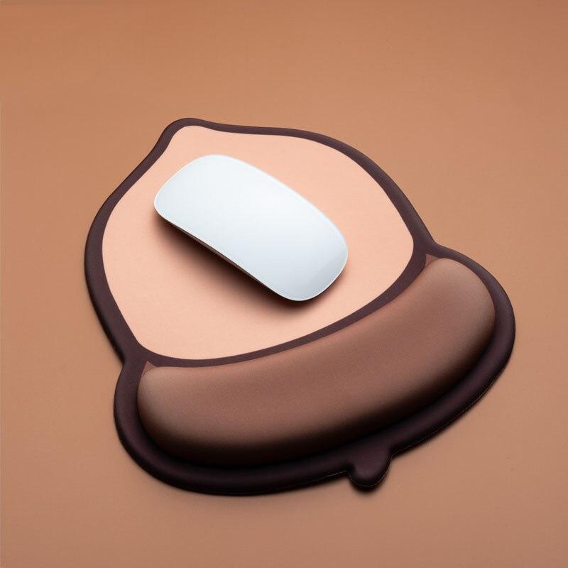 Alfombrilla ergonómica para ratón 3D, alfombrilla para ratón de Gel de silicona suave de Anime con soporte para muñeca, alfombrilla para ratón creativa