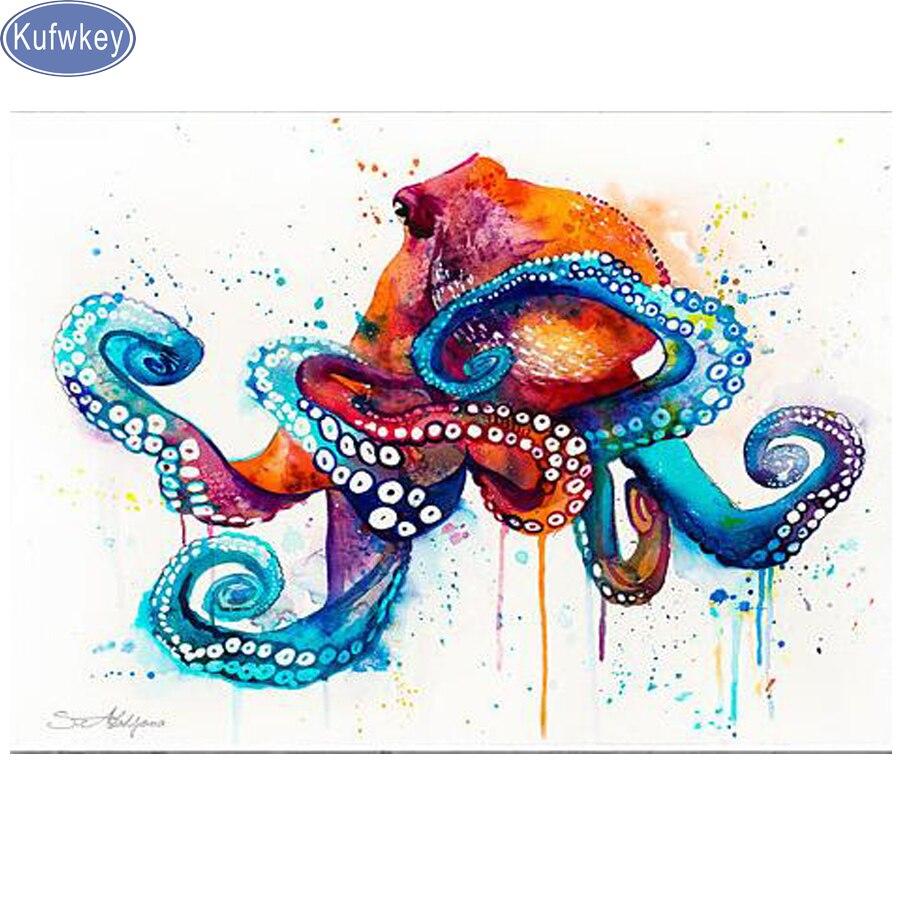 octopus Diamond Painting fish,Private Custom,Photo Custom Own Diamond Embroidery Full Square Drill Diamond Rhinestones 5D DIY