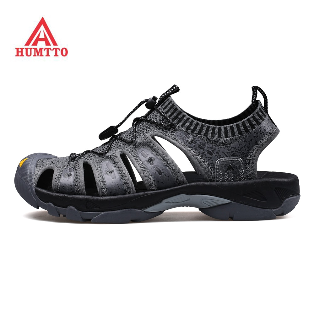 humtto summer men sandals 2021 breathable beach sandals for men's outdoor water mens hiking camping fishing climbing aqua shoes HUMTTO Men's Outdoor Summer Hiking Trekking Sandals Shoes Sneakers For Men Barefoot Beach Water Sandals Shoes Sneakers Man