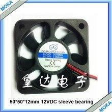 10 pcs a Lot  50*50*12mm 12VDC Sleeve Bearing Cooling Fan