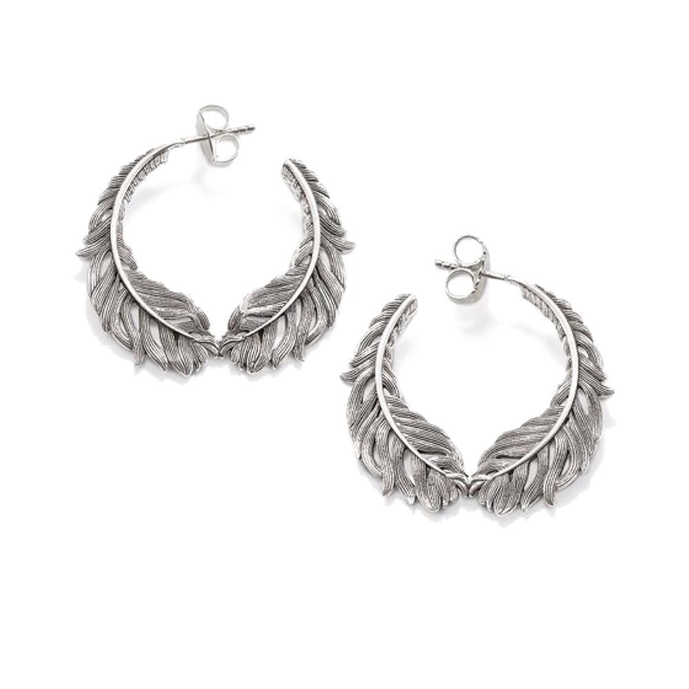 Pendientes de plata de ley 925 con forma de pluma, pendientes de estilo Thomas a la moda, pendientes románticos, regalo bohemio Ts para mujer