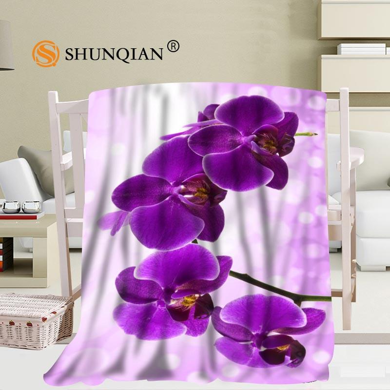 Gran oferta de Manta personalizada de orquídeas Manta Falafel sofá/cama de viaje de avión 56x80 pulgadas 50x60 pulgadas 40x50 pulgadas