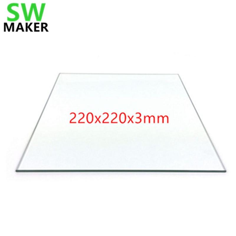 SWMAKER Smartrap 3D drucker 220x220mm Glas Bauen Platte Borosilikat/Gehärtetem Für wanhao MK2/MK3 Creality ENDER-3S Erhitzt Bett
