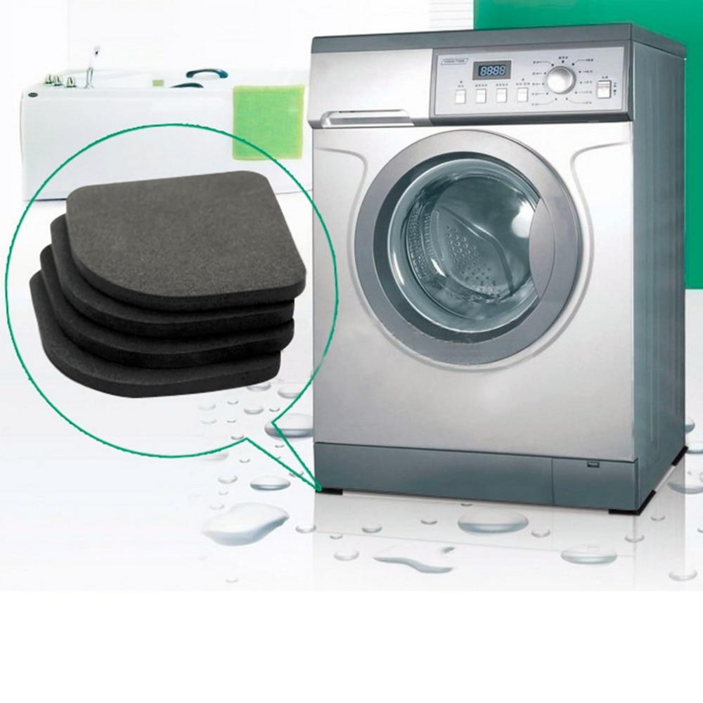 4pcs Multifunctional Refrigerator Anti-vibration Pad Mat For Washing Machine Shock Pads Non-slip Mats Set Bathroom Accessories