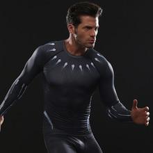Raglan manga Pantera Negra camisas de compresión 3D T impreso camisetas hombres 2018 vengadores camiseta para hombre con estampado de cómic BodyBuilding ropa