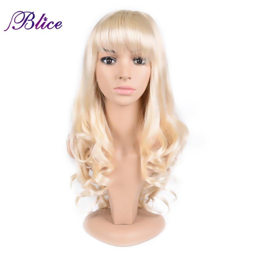 "Blie peluca sintética afro americana para mujer peluca ondulada Natural larga 24 ""100% peluca sintética de kanekalon Color puro #613 disponible"