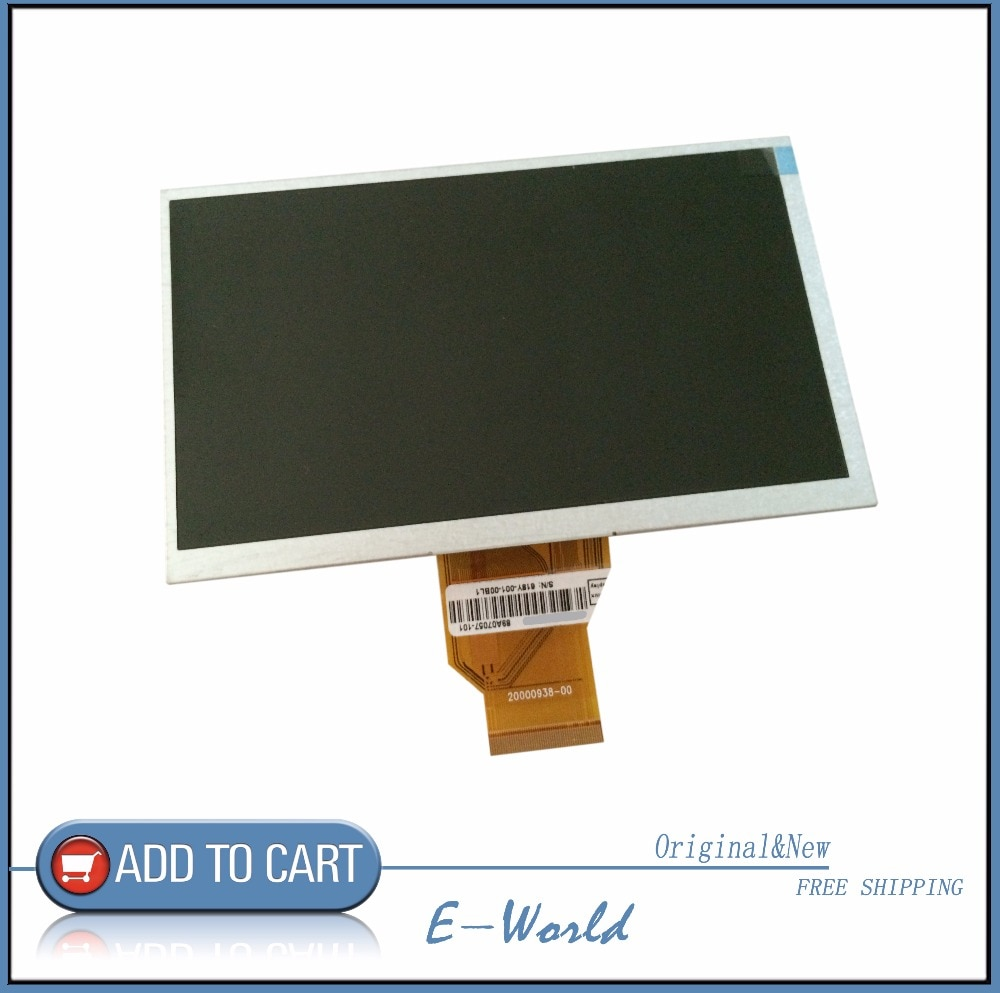 Original 6.5 polegada polegada AT065TN14 20000938 30 tela digital TFT LCD 800*480 frete grátis