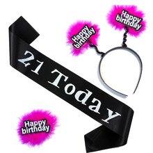 18 21 heureux nirthdday bandeau ceinture broche amusant blague jeu ensemble tatouage autocollants mariage poule bachelorette événement fête produits de sexe