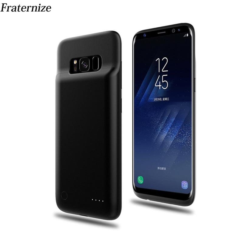 Funda fina de batería de 4000mAh para Samsung Galaxy S8 Plus, carcasa con cargador de batería, carcasa trasera con cargador de batería externa de TPU