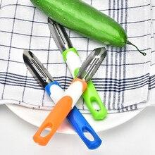 Éplucheur en acier inoxydable   Brosse à légumes et fruits, pomme de terre, peau éplucheur en acier inoxydable, élimination rapide, nettoyage de fruits, éplucheur outils de cuisine domestiques, couleur aléatoire 1 pièce