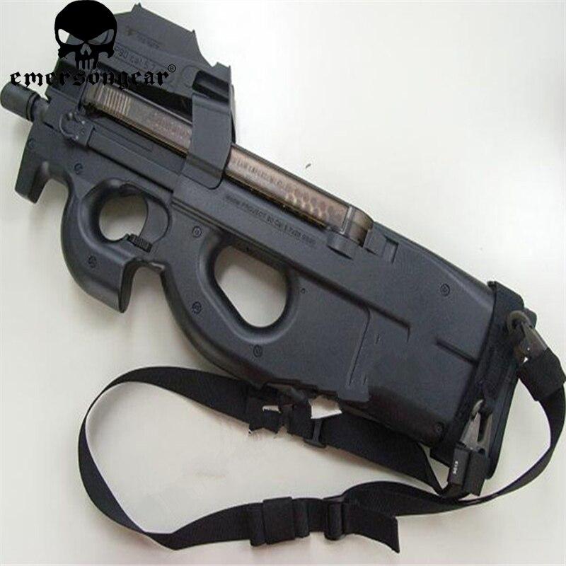 Equipo Militar del Ejército Airsoft eslinga pistola de paintball combate EMERSON P90 especial EMERSON negro 1000D Nylon