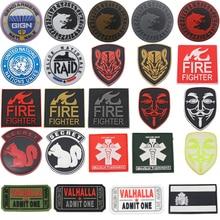 Patch pour drapeau espagnol PVC   Patch pour drapeau, Viking loup, pompier sauveteur, masque de marque vert Vendetta, médaille dhonneur, Badge militaire, Patch tactique, nouvelle collection 2020