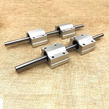 Bloc de roulement linéaire   2 pièces 8*200/ 250mm + 4 pièces à tige durcie sur rail, bloc de roulement linéaire pour accessoires, pièces dimprimante 3d, charpentier