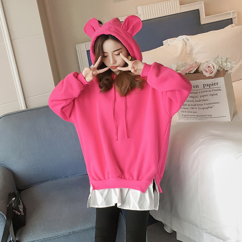 Pregnancy Wear Hoodie Pregnant Clothes Autumn and Winter Hoodies Cotton Maternity Coat Add Velvet Thick Keep Warm Coats Clothing enlarge