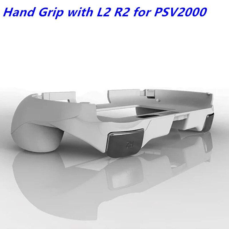 Aperto de mão alça joypad suporte caso escudo protetor com l2 r2 botão gatilho para psv 2000 psv2000 ps vita 2000 magro console de jogo
