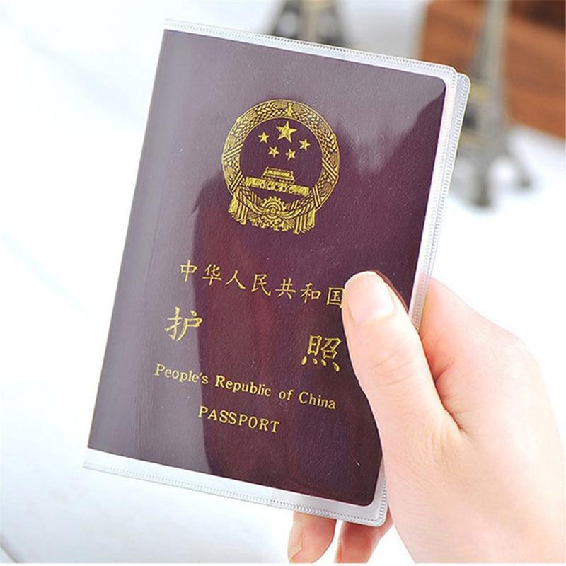 Водонепроницаемый Дорожный Чехол-бумажник для паспорта, прозрачный чехол из ПВХ с отделением для ID карт, держатель для карт для бизнеса
