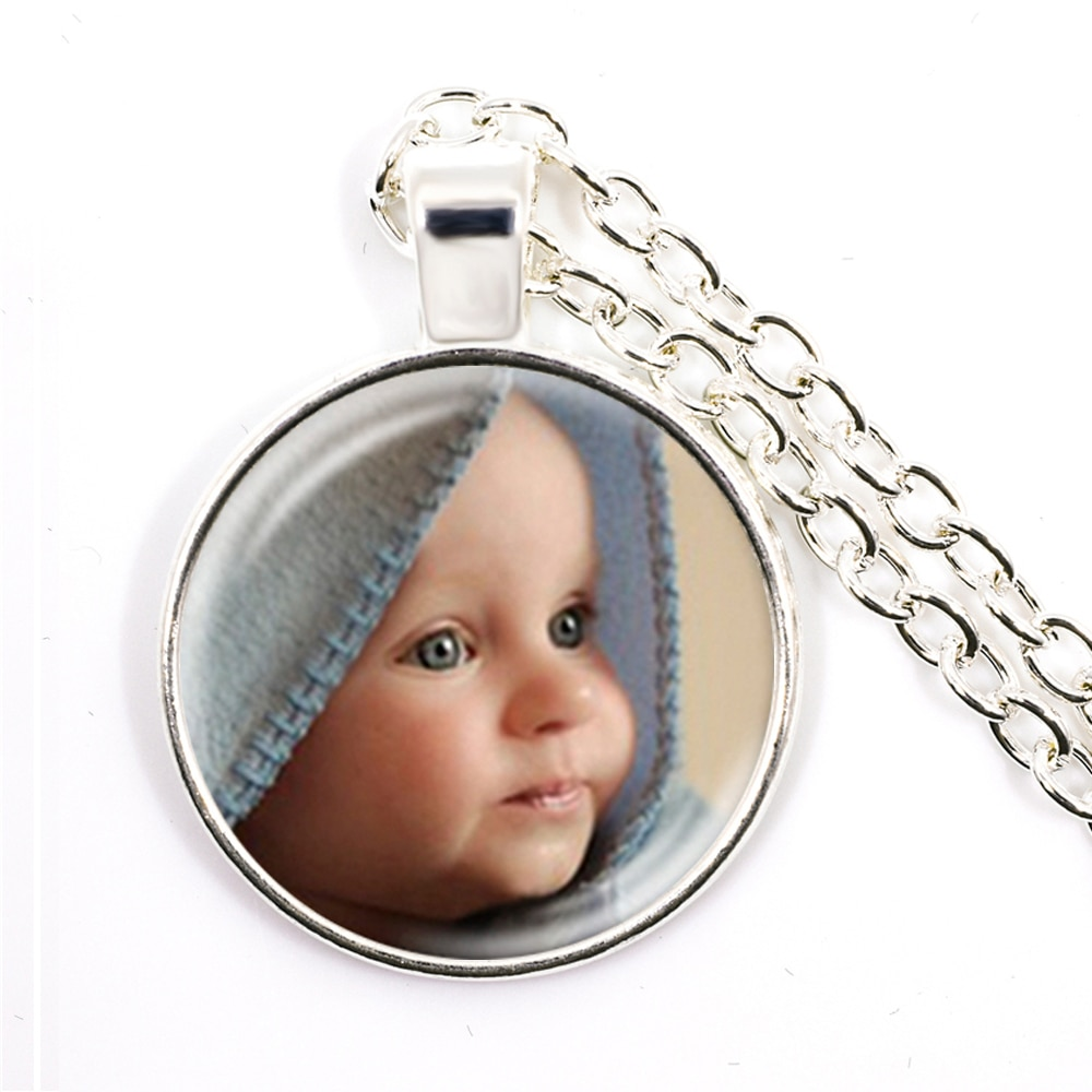 Personalized Custom Necklace Photo Mum Dad Baby Children Grandpa Parents Custom Designed Photo Gift For Family Anniversary Gift 925 sterling silver custom pendant necklace diy photo engraving necklace custom personalized gifts drop shipping ylq0845