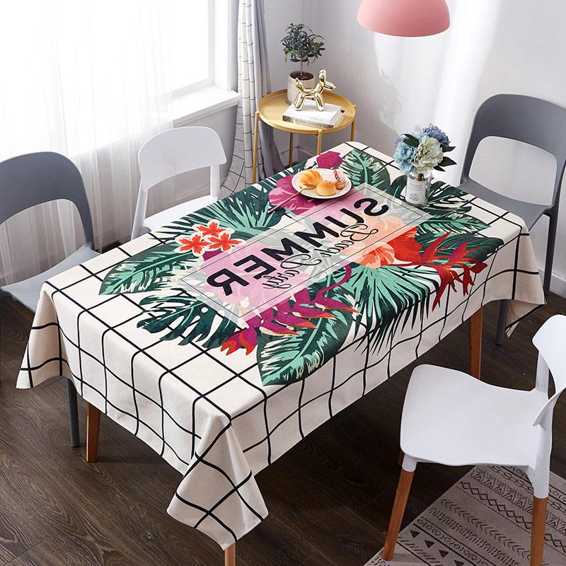Mantel estampado floral resistente al aceite impermeable de 4 tamaños para cocina, comedor, mantel, mesa, nappe 1 ud.
