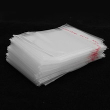 200 pièces 5x7cm Mini plastique transparent refermable Cellophane sac petit bijoux emballage emballage refermable joint sacs
