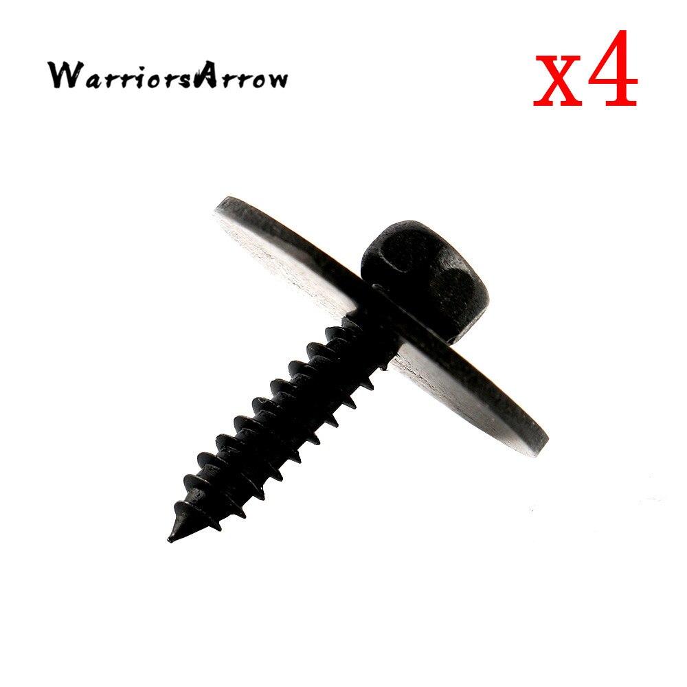 WarriorsArrow 4 Uds hoja de Metal bajo cubierta de tornillo para Mercedes Benz C230 C300 CL550 CLA250 W203 W204 W207 W209 A0019906036