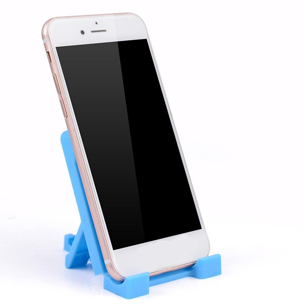 6 colores Portable Mini F1 PP plástico teléfono tableta soporte para Xiaomi para Huawei para Samsung S7 8 9