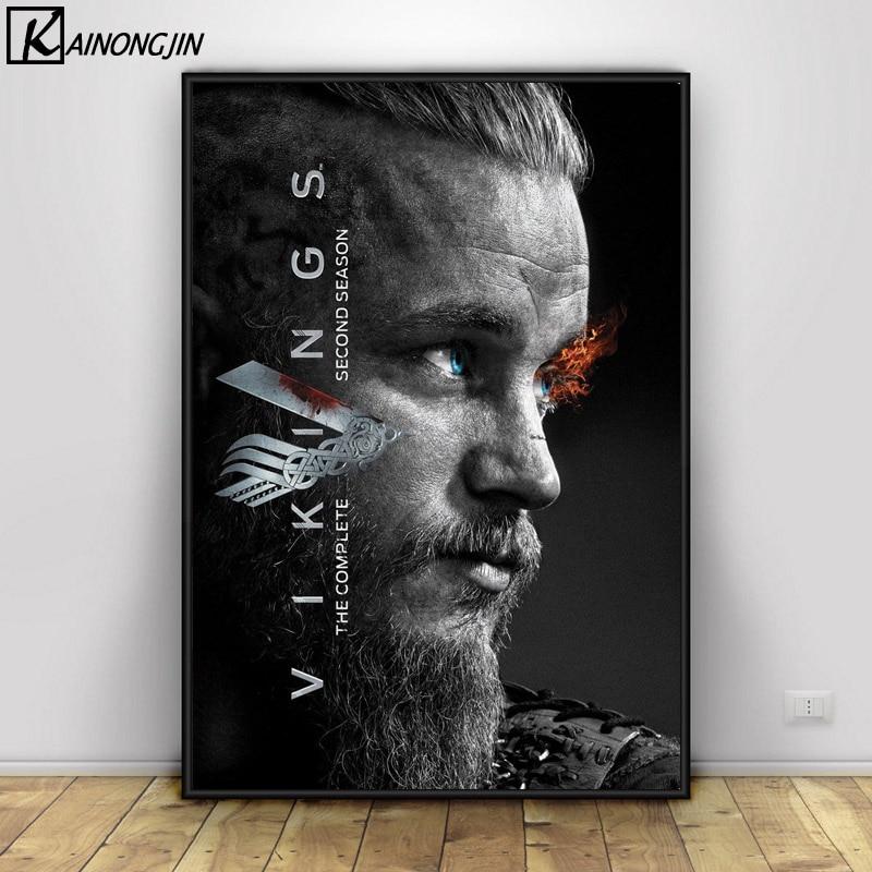 Poster vikingos Posters e impresiones lienzo pintura cuadro de arte de la pared para la decoración del hogar de la sala de estar
