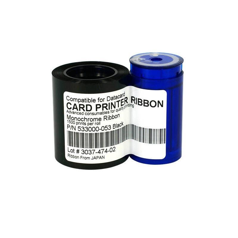 Datacard 533000-053 Cinta Negra monocromática Compatible con 1500 impresiones para Datacard CP40, CP40Plus, CP60, CP60Plus, CP80, CP80Plus