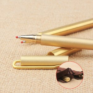 Simplified Brass Business Gifts Signing Pen Water Based Writing Ball Pen Office Study Gel Pen Vintage Cool Pen