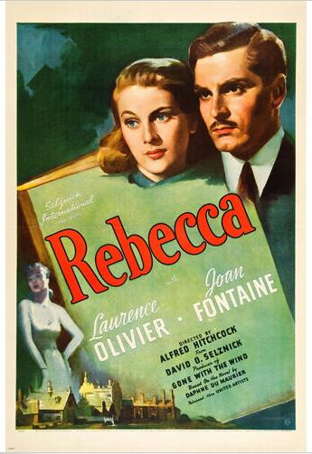 Laurence Olivier Joan Fontaine Movie Rebecca Psycho Thriller Zijde Poster Decoratieve Schilderkunst 24x36inch