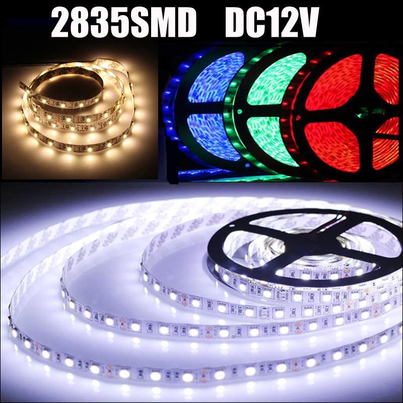 Tira de luces led SMD 2835 de 12v, luces RGB, Rojas, azules,...