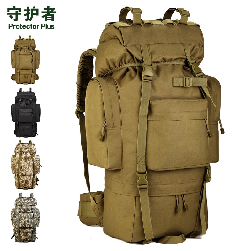 65L حقائب تسلق الجبال كبيرة مقاومة للماء على ظهره حقيبة السفر السياحية الأمتعة الكبيرة A3194