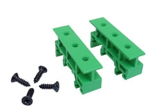 10 ensemble DIN 35mm DIN Rail, C45 Rail PCB adaptateur de montage carte PCB support de carte PCB fixe barrière support de montage pour PCB