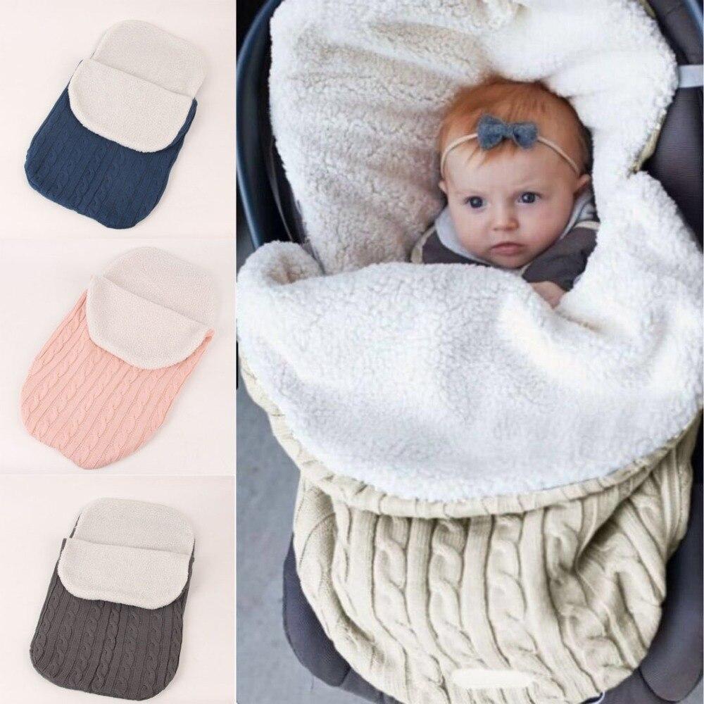 Saco de dormir térmico de punto grueso acolchado para Sacos de dormir para bebés de invierno