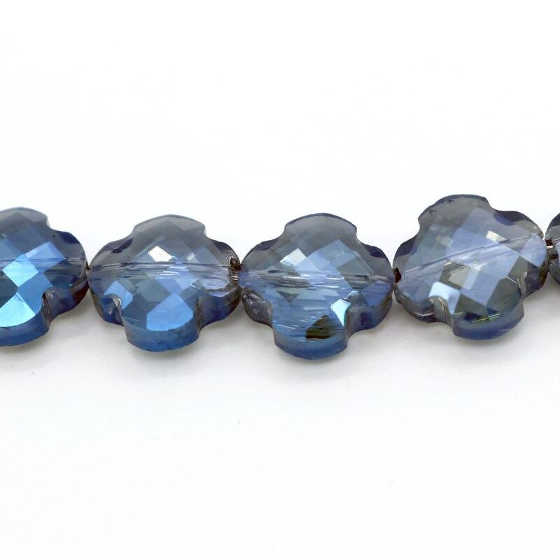 60 unids/lote 11mm cuentas de cristal en forma de cruz Diy proveedor de Material para manualidades joyería collar DIY fabricación multicolor