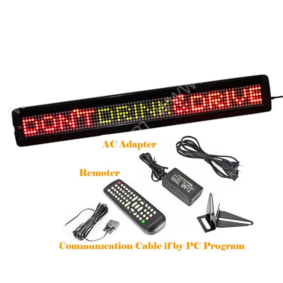 RS232 واجهة 26x4 بوصة 7x80 بكسل LED تسجيل للبرمجة التمرير رسالة المجلس للأعمال التجارية ، سيارة ، مخزن