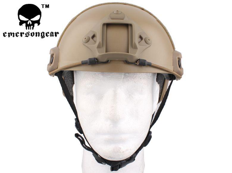 cycling helmet Cool economical Version Airsoft Emes Helmet w/ Rails NVG Mount DE TAN