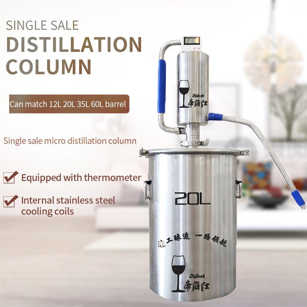 Torre de destilación de una sola venta puede combinar 12L 20L 35L 60L barril, máquina de elaboración de torre de destilación pequeña del hogar