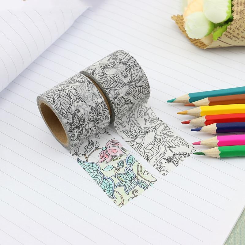 30mm peinture créative Washi ruban pour fille bricolage Journal Journal décoratif adhésif ruban de masquage Scrapbooking fournitures de papeterie