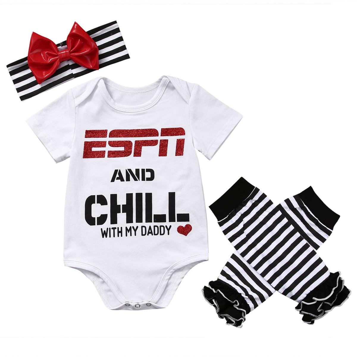Conjunto de Body de bebé de 3 uds para recién nacidos y bebés, body con letra de chico y chica, mono, calentadores de piernas y diadema