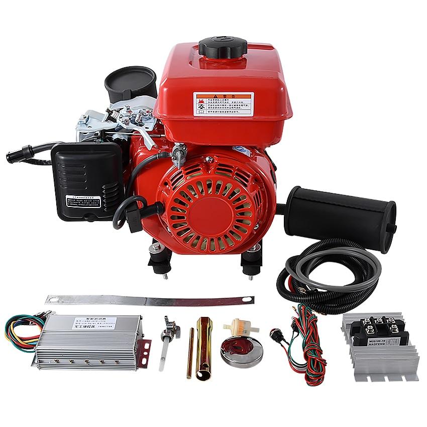 Nuevo generador de gasolina de 3000W con doble silenciador, 3000r/min, extensor de rango, controlador de proceso para vehículo eléctrico de 48V/60V/72V