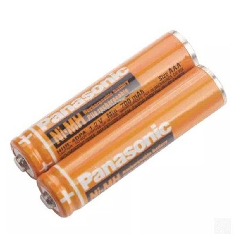 2 шт. оригинальный аккумулятор Panasonic AAA 1,2 V 630mAh NiHM время зарядки или 1200 раз Бесплатная доставка!
