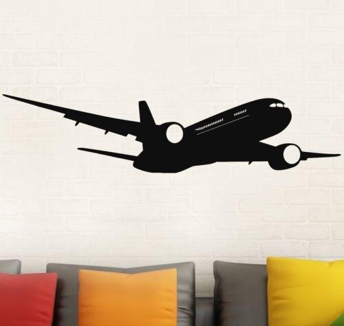 Calcomanía moderna de pared de Boeing de avión extraíble calcomanías para decoración del hogar pegatina de pared de calidad GW-51